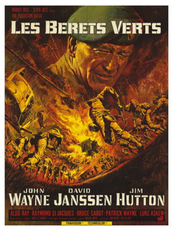 Green Berets, French Movie Poster, 1968 Posters
