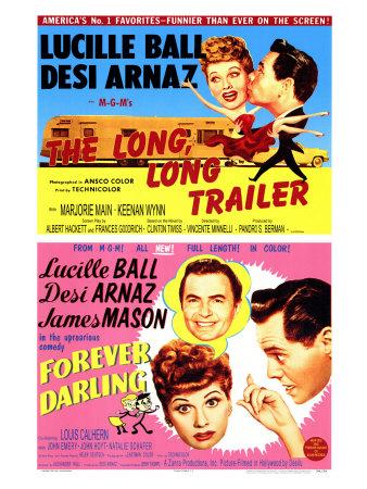 Long, Long Trailer, The / Forever Darling, 1954 Prints