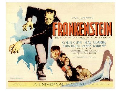 Frankenstein, 1931 Giclée-tryk