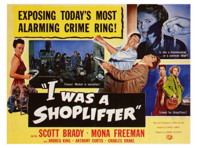 I Was a Shoplifter, 1950 Poster