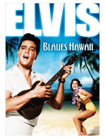 Blue Hawaii , German Movie Poster, 1961 Prints