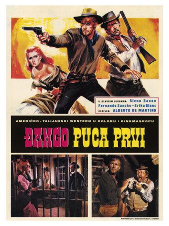 Django Shoots First, Yugoslavian Movie Poster, 1966 Prints