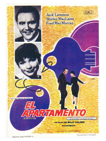 The Apartment, Spanish Movie Poster, 1960 Lámina giclée