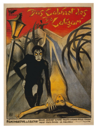 The Cabinet of Dr. Caligari, Italian Movie Poster, 1919 Giclée-tryk