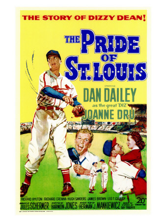 The Pride of St. Louis, 1952 Posters