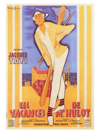 Mr. Hulot's Holiday, French Movie Poster, 1953 Art