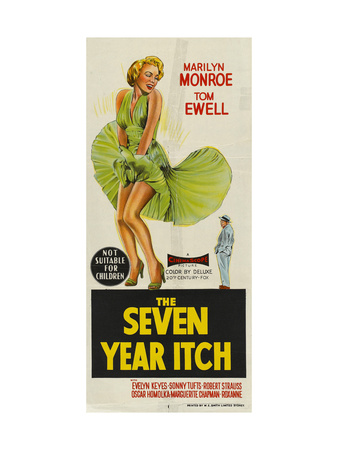 The Seven Year Itch, Australian Movie Poster, 1955 Posters