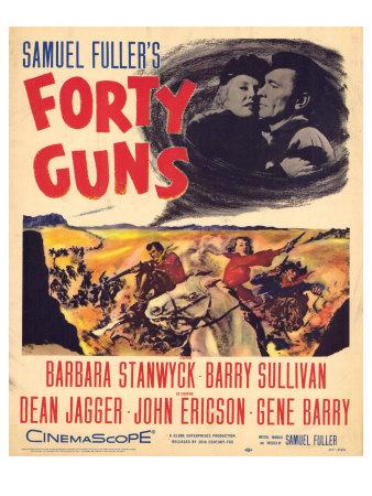 Forty Guns, 1957 Plakater