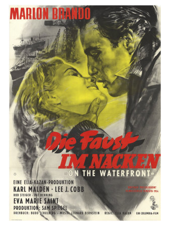 On the Waterfront, German Movie Poster, 1954 Posters