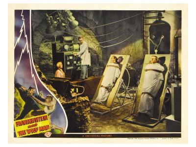 Frankenstein Meets the Wolf Man, 1942 Print