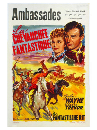 Stagecoach, Belgian Movie Poster, 1939 Poster