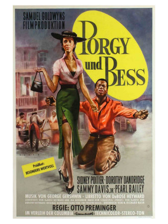 Porgy and Bess, German Movie Poster, 1959 Print