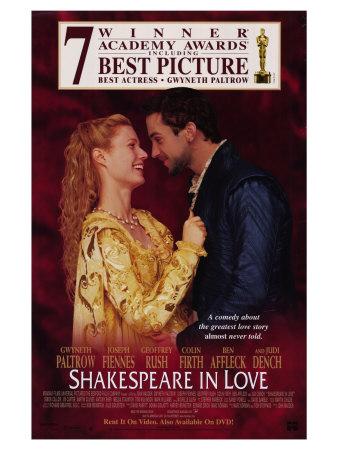 shakespeare in love. Shakespeare in Love Giclee