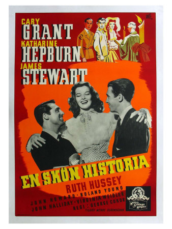 The Philadelphia Story, Swedish Movie Poster, 1940 Posters