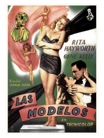 Cover Girl, Spanish Movie Poster, 1944 Impressão giclée