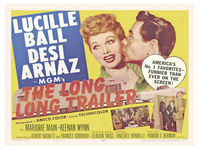 The Long Long Trailer, UK Movie Poster, 1954 reproduction procédé giclée