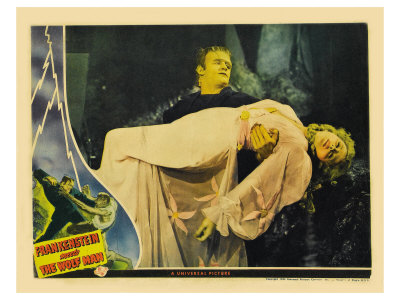 Frankenstein Meets the Wolf Man, 1942 Poster