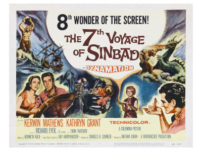 The 7th Voyage of Sinbad, 1958 Posters