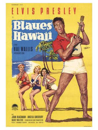 Blue Hawaii, German Movie Poster, 1961 Prints