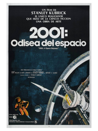 2001: A Space Odyssey, Argentine Movie Poster, 1968 Print