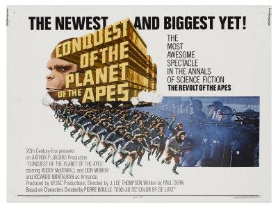 Conquest of the Planet of the Apes, 1972 Reproducción en lienzo de la
