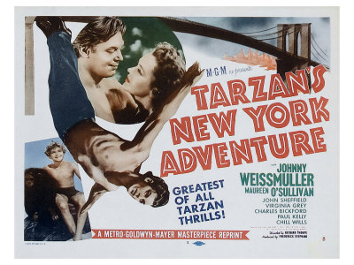 Tarzan's New York Adventure, 1942 Giclée-tryk