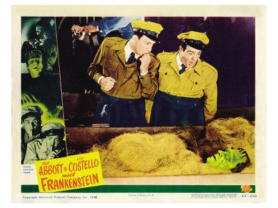 Bud Abbott Lou Costello Meet Frankenstein, 1948 Print