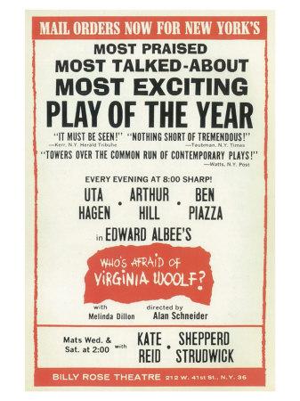 Who's Afraid of Virginia Woolf Prints