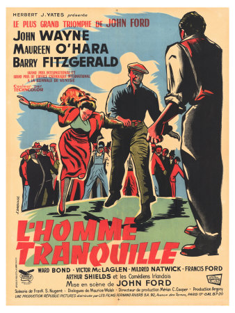 The Quiet Man, French Movie Poster, 1952 Prints