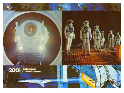2001: A Space Odyssey, German Movie Poster, 1968 Art
