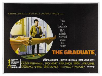 The Graduate, UK Movie Poster, 1967 Poster