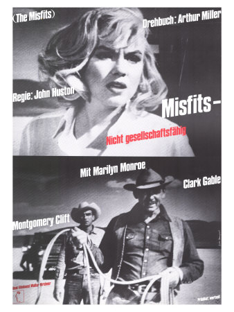 The Misfits, German Movie Poster, 1961 Prints