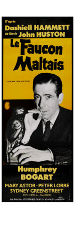 The Maltese Falcon, French Movie Poster, 1941 Kunsttryk