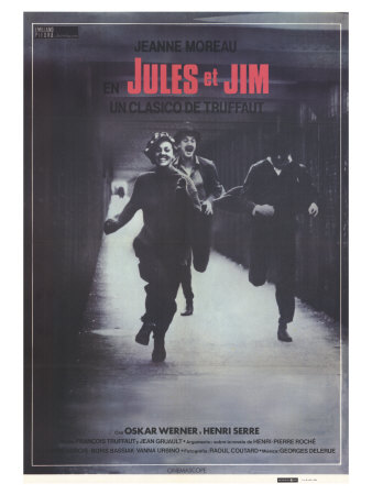 Jules and Jim, Spanish Movie Poster, 1961 Plakater