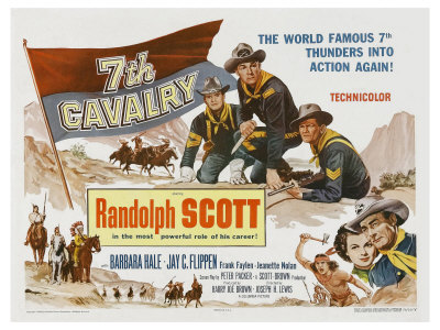 7th Cavalry, UK Movie Poster, 1956 Prints
