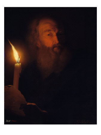 Effect of Artificial Light Giclee Print by Godfried Schalcken