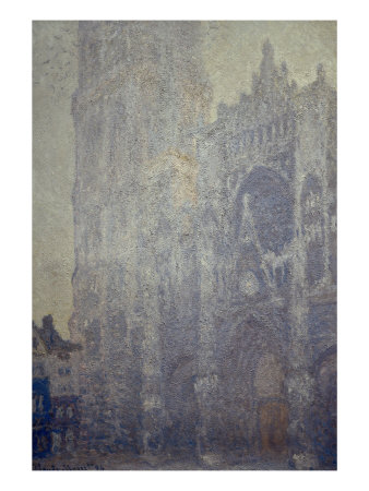 Rouen Cathedral, Effects of Morning Light Giclee Print by Claude Monet