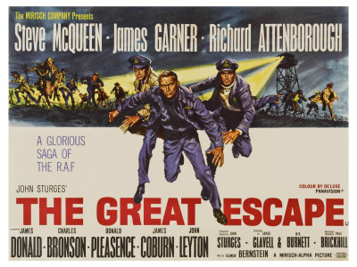 The Great Escape, UK Movie Poster, 1963 Plakater