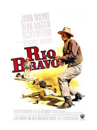 Rio Bravo, German Movie Poster, 1959 Poster