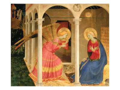 Cortona Altarpiece with the Annunciation, without predellas Giclée-Druck