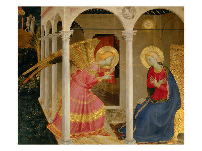 Cortona Altarpiece with the Annunciation Giclee Print by  Fra Angelico