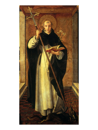 Saint Dominic Guzman Giclée-tryk af Pedro Berruguete