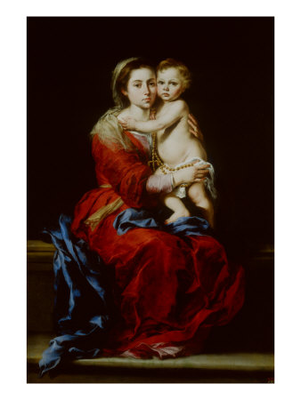 Madonna and Child or Virgin of the Rosary Giclee Print by Bartolome Esteban Murillo