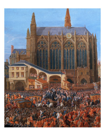 King Louis XV at the Parliament 1715 (Sainte Chapelle) Giclee Print by Pierre-Denis Martin