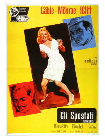 The Misfits, Italian Movie Poster, 1961 Prints