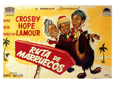 Road to Morocco, Spanish Movie Poster, 1942 Poster