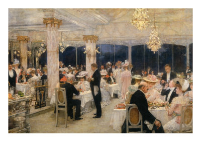 Soiree of the Grand Prix at Armenonville, 1905 Giclee Print by Henri Gervex