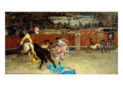 Scene of Bullfight Giclee Print by Fortuny y Marsal Mariano
