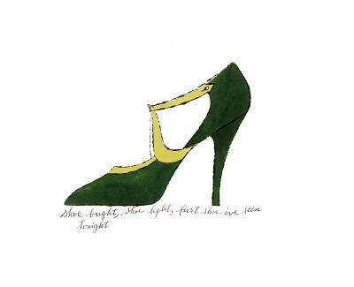Shoe, c.1955 (Green and Yellow) Giclée-tryk