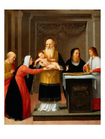 Presentation in the Temple Giclee Print by Bernardino Ferrari